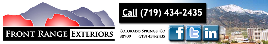 Front Range Exteriors Inc. of Colorado Springs - Premiere and Value Choice for Roofing, Exterior and Interior Painting, and other exterior services.