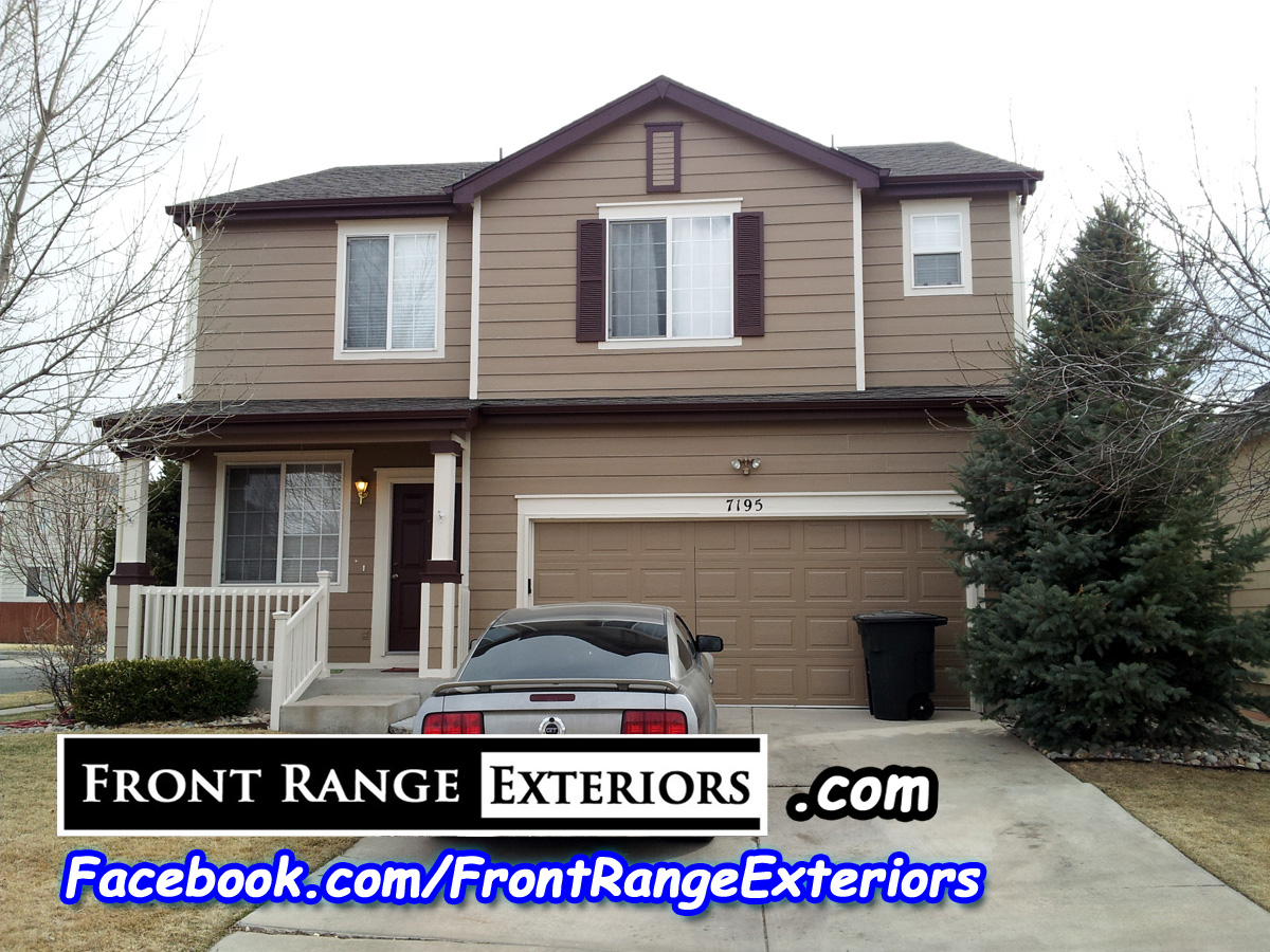 Front range exteriors inc painting roofing siding and new windows in colorado springs - Colorado springs exterior house painting paint ...