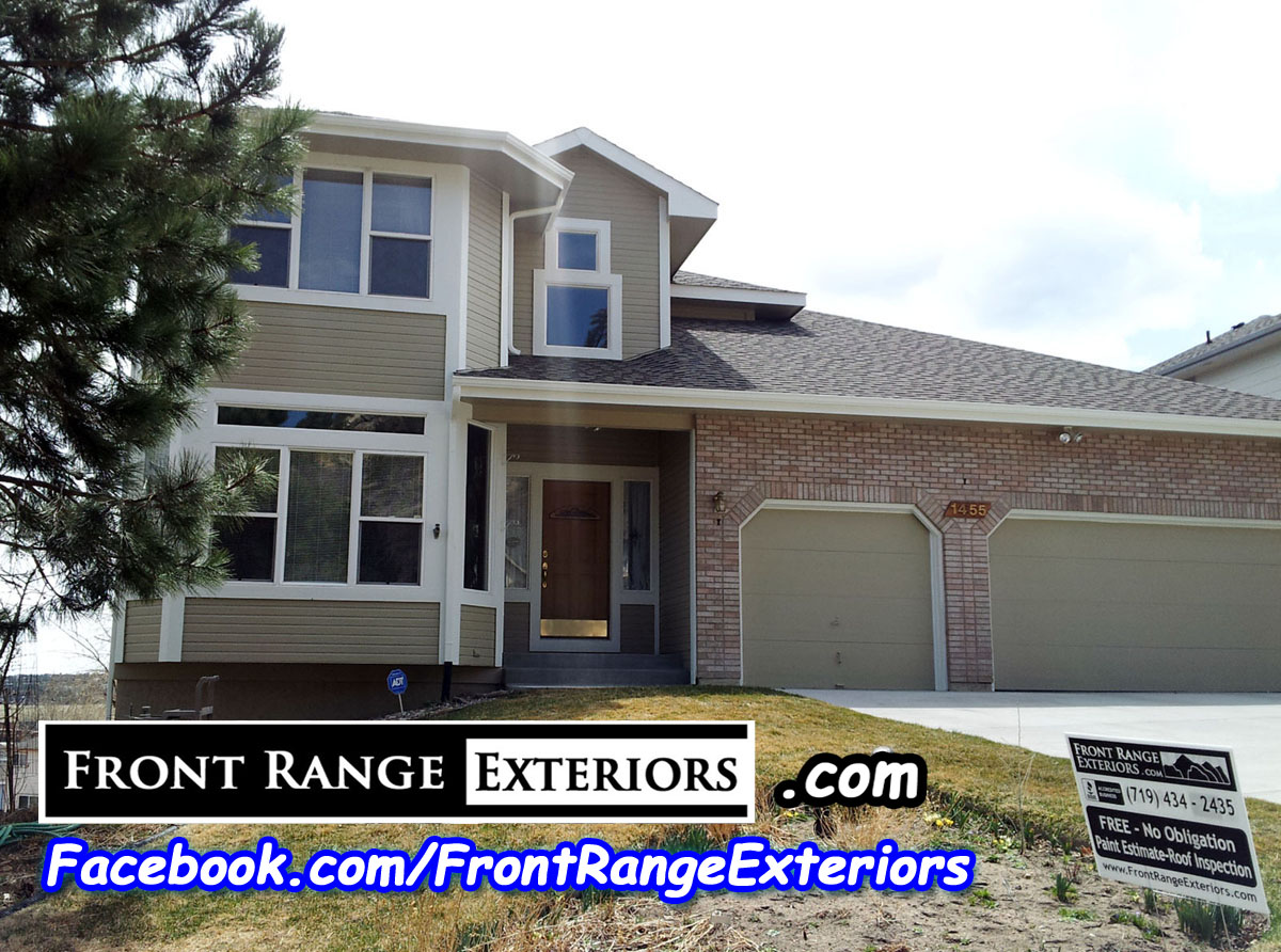 Front range exteriors inc exterior and interior painting in colorado springs painter - Exterior house painting colorado springs decor ...