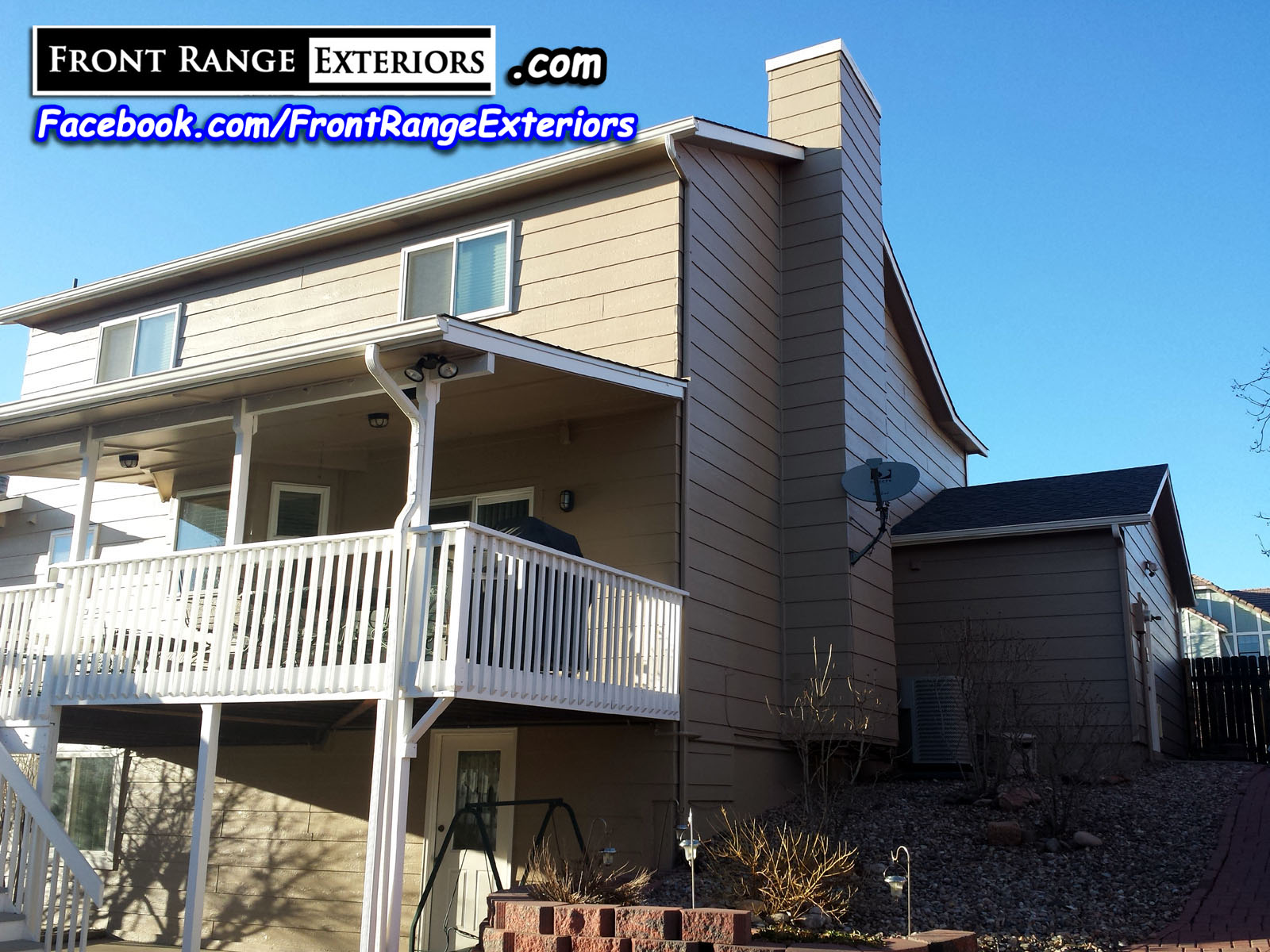 Front range exteriors inc painting replacement gutters garage doors roof in colorado springs - Exterior house painting colorado springs decor ...