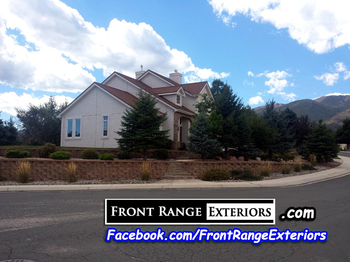 Colorado Springs Painting Stucco Woodmen Front Range Exteriors Inc