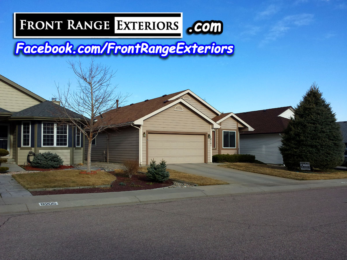 Front Range Exteriors Inc Colorado Springs Roofing New Roof From Hail Damage Painter