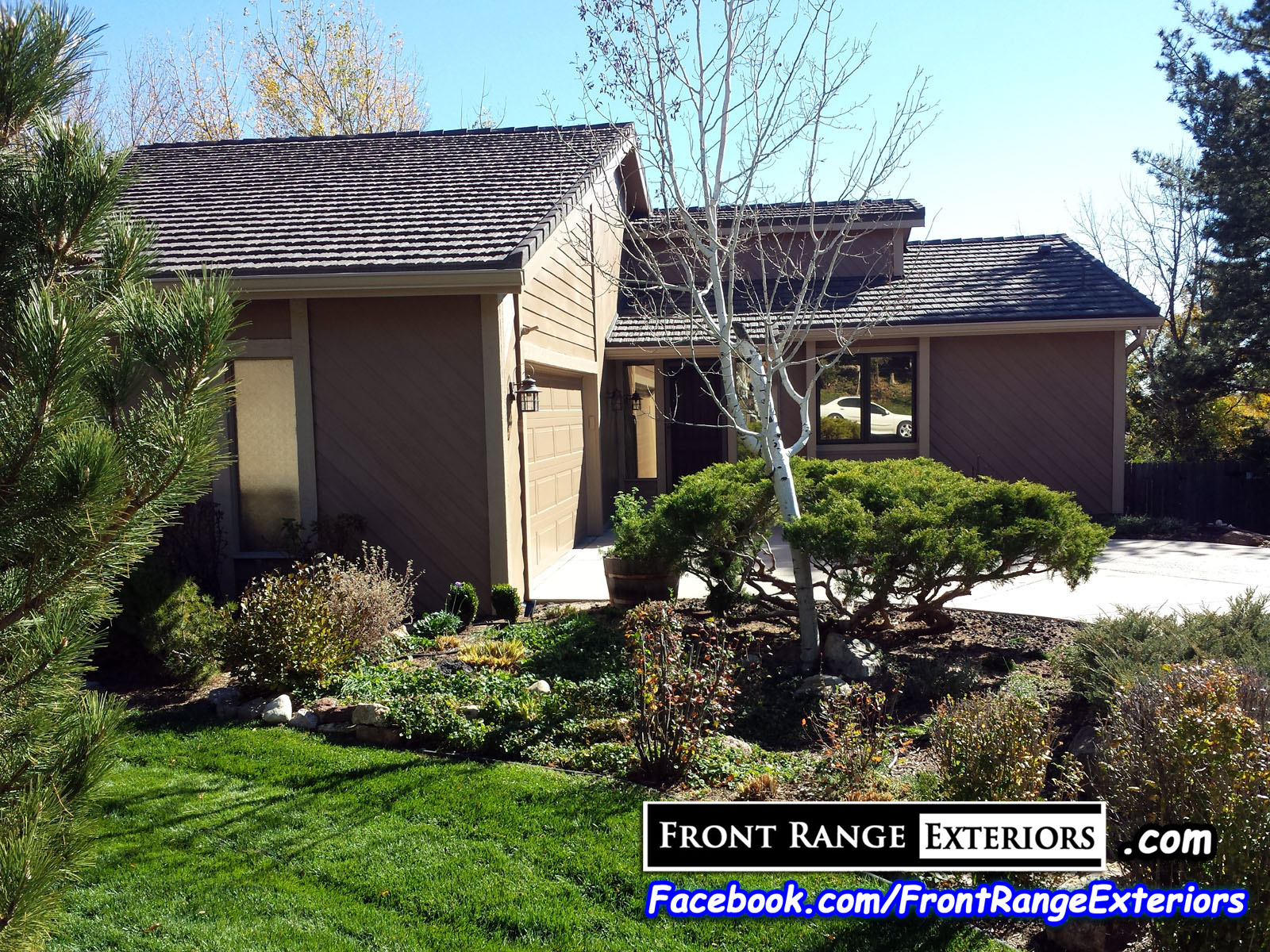 Front Range Exteriors Inc Painting Staining New Cedar Siding In Colorado Springs