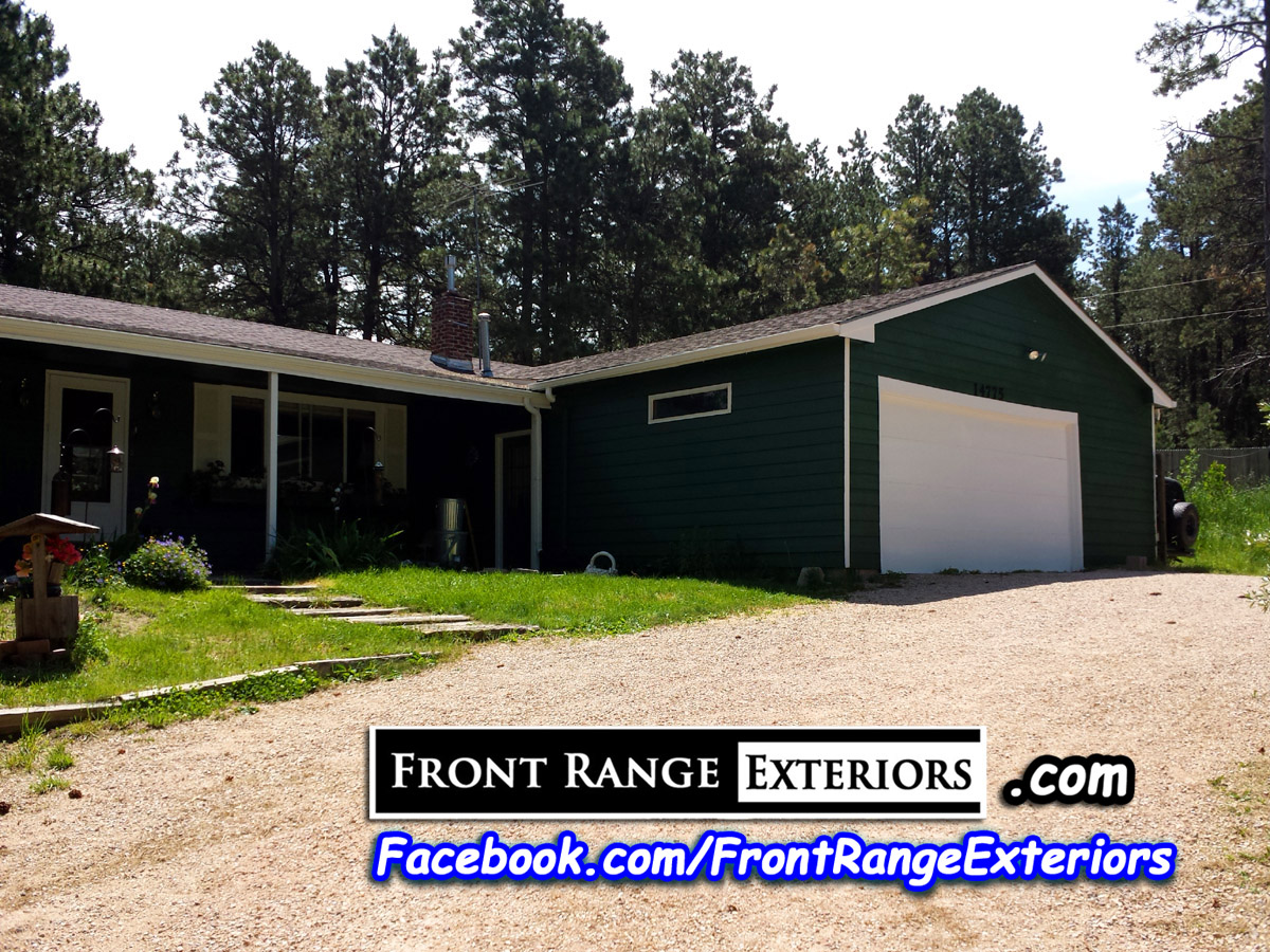 House Staining Colorado Springs Painting Black Forest Front Range Exteriors Inc
