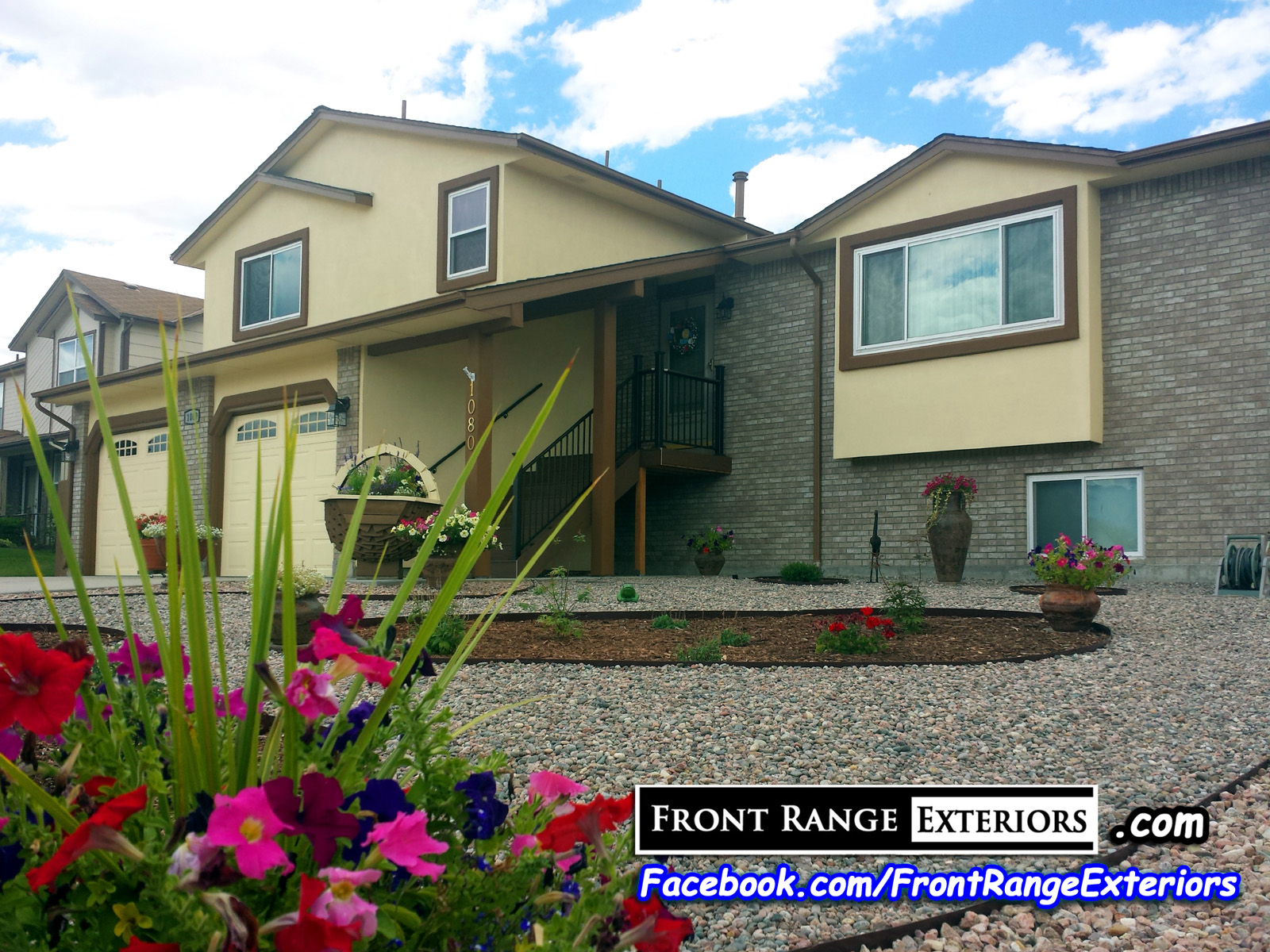 Front range exteriors inc stucco over siding and painting job in colorado springs - Exterior painting colorado springs decoration ...