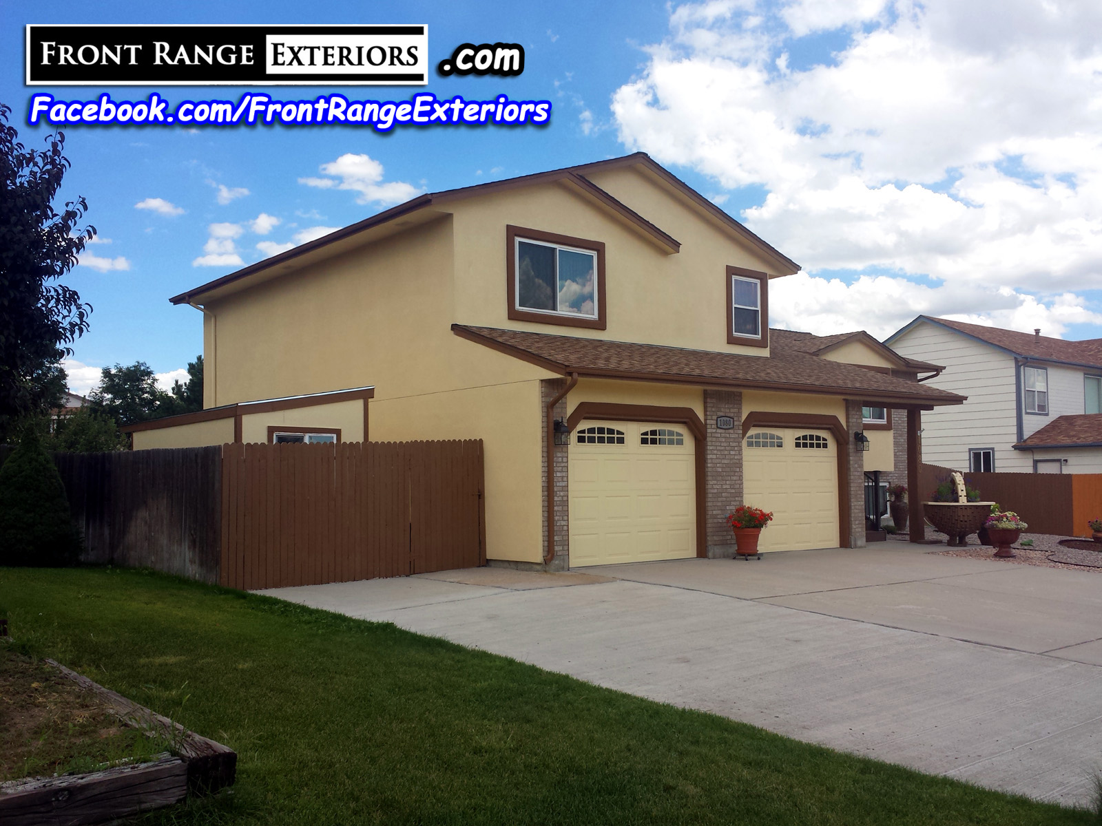 Front range exteriors inc stucco over siding and painting job in colorado springs - Colorado springs exterior house painting paint ...