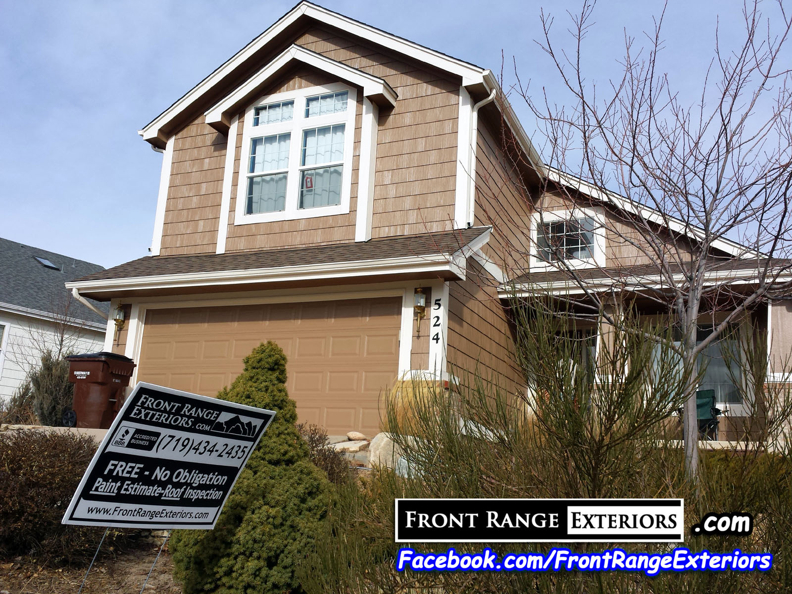 North Colorado Springs Painting Roofing After Hail Damage Front Range Exteriors Inc