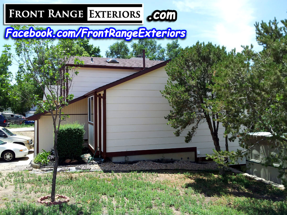 Painting roofing colorado springs fountain front range exteriors inc - Colorado springs exterior house painting paint ...