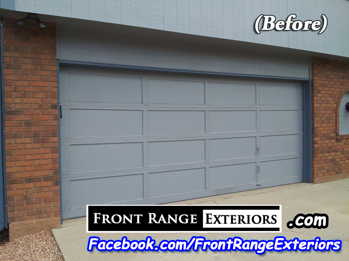 Example Of Amarr Garage Door Installation In Colorado Springs Front Range Exteriors Portfolio